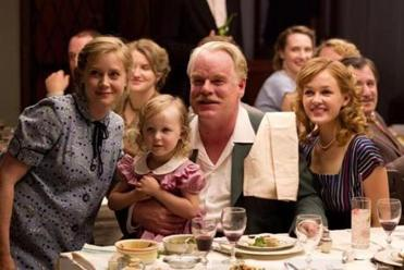 "Amy Adams (left) and Philip Seymour Hoffman costar in Paul Thomas Anderson's ""The Master."""